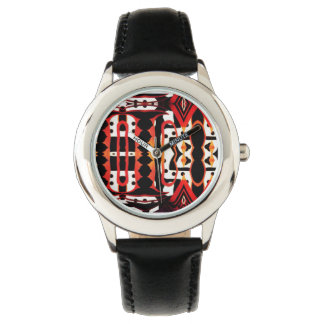 Stylish tribal abstract designer watch