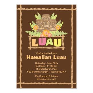 Stylish Tropical Hawaiian Luau Party 5x7 Paper Invitation Card