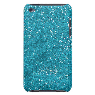 Stylish Turquoise Blue Glitter Case-Mate iPod Touch Case