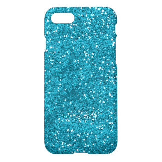 Stylish Turquoise Blue Glitter iPhone 7 Case