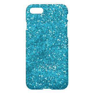 Stylish Turquoise Blue Glitter iPhone 7 Case
