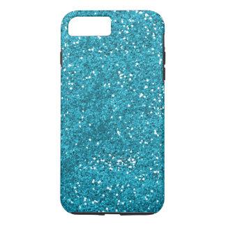 Stylish Turquoise Blue Glitter iPhone 8 Plus/7 Plus Case