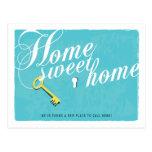 Stylish Turquoise Blue New Address Postcard