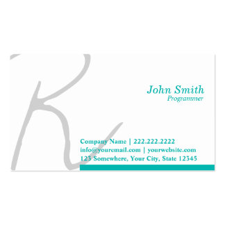 Stylish Typography Programmer Business Card