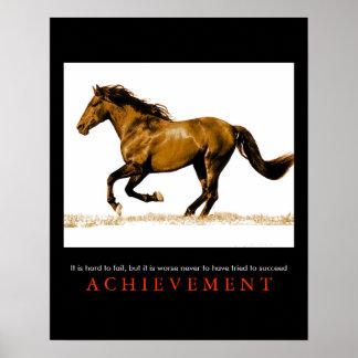 Stylish Unique Motivational Horse Poster Print
