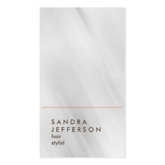 Stylish Vertical Grey Hairdresser Style Consultant Pack Of Standard Business Cards