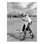 Stylish Vertical Save the Date Photo Postcard