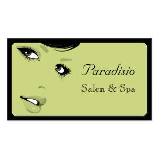 Stylish Vintage Beauty Salon and Spa Business Card