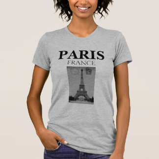 Stylish Vintage Black and White Paris France T-Shirt
