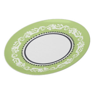 Stylish-Vintage(c) Lime & Dots--Everyday_Plates Party Plates