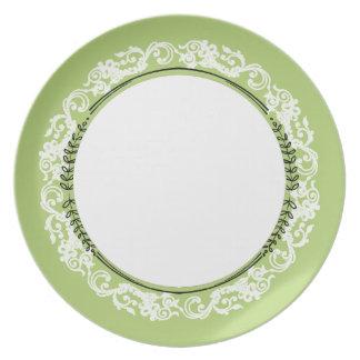 Stylish-Vintage(c) Lime--White-Everyday_Plates Plate