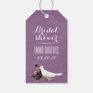 Stylish Violet Love Birds Bridal Shower