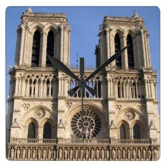 Stylish Wall Clock with Notre Dame de Paris