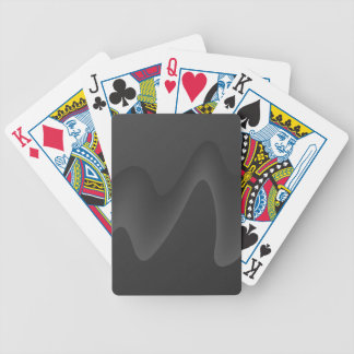 Stylish Wave Design in Dark Gray. Bicycle Playing Cards