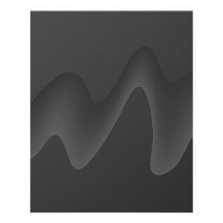 Stylish Wave Design in Dark Gray Flyers