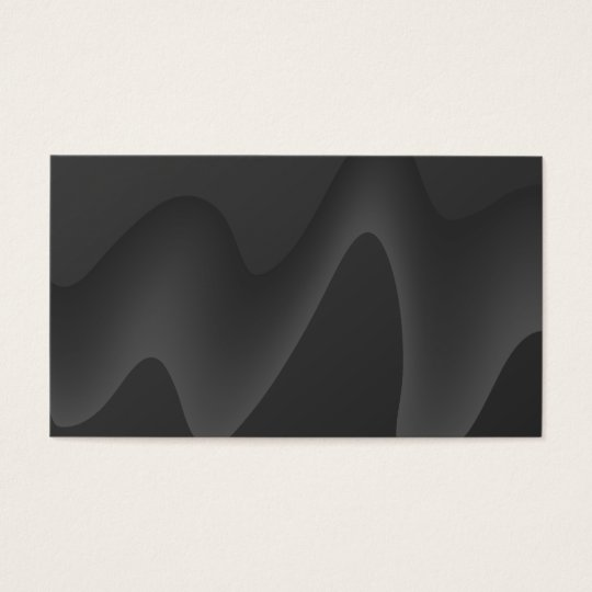 Stylish Wave Design in Dark Grey. Business Card
