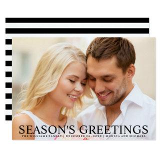 Stylish Wedding Photo Holiday Greetings Card