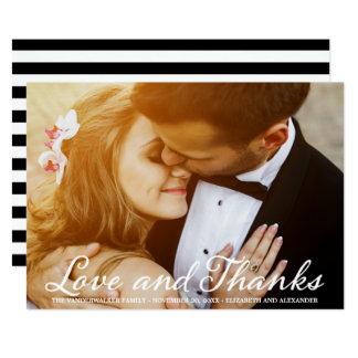 Stylish Wedding Photo Script Thank You Card