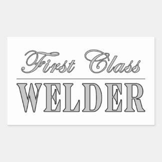 Stylish Welders : First Class Welder Rectangular Sticker