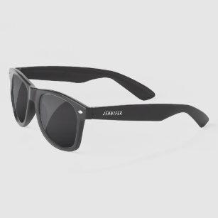Stylish White Personalized Name Custom Sunglasses