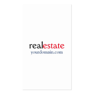 Stylish White Real Estate Agent Professional Pack Of Standard Business Cards