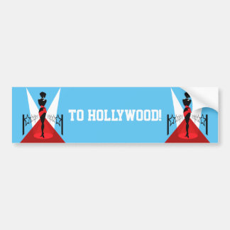 Stylish woman silhouette on red carpet with stars bumper sticker