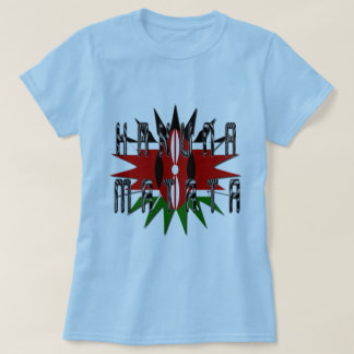 Stylish Women Basic Blue Jambo Kenya Hakuna Matata T-Shirt