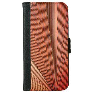 Stylish Wooden slats texture pattern iPhone 6 Wallet Case