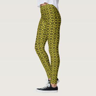 Stylish Yellow and Black Pattern Leggings