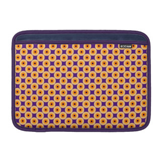 Stylish Yellow and Purple Polka Dot MacBook Sleeve