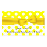 Stylish Yellow and White Polka Dot Mummy Card Pack Of Standard Business Cards