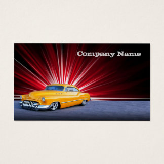 Stylish  Yellow Classic Car Business Card