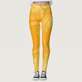 Stylish Yellow Leaf Leggings