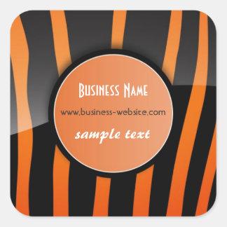 Stylish Zebra Business Sticker