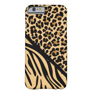 Stylish Zebra Print and Leopard Print iPhone Case iPhone 6 Case
