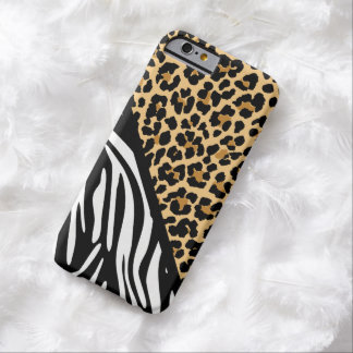 Stylish Zebra Print and Leopard Print iPhone Case Barely There iPhone 6 Case