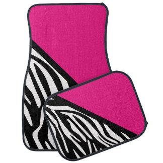 Stylish Zebra Print and Pink Car Mats