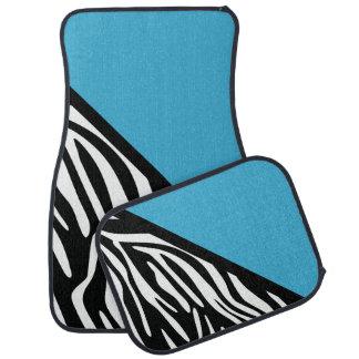 Stylish Zebra Print and Turquosie Car Mats Car Mat