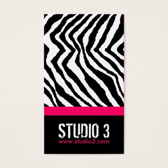 Stylish Zebra Print Business Card