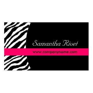 Stylish Zebra Print Business Cards Horizontal