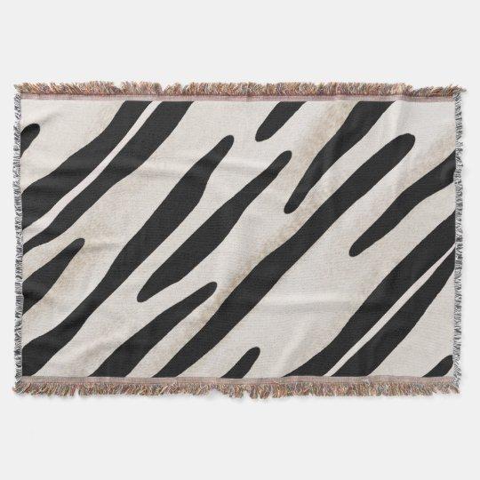Stylish Zebra Print Throw blanket Coordinate