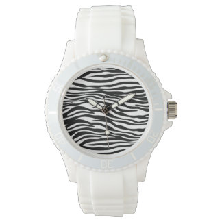 Stylish Zebra Print Wrist Watch