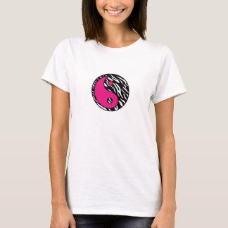 Stylish Zebra Stripe with Pink Yin Yang Shirt