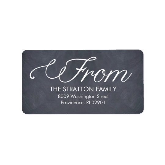 Stylishly Chalked Holiday Address Labels