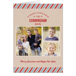 Stylishly Mailed Christmas / Holiday Greeting Card