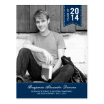 Stylishly Stitched Graduation Announcement /Invite Postcards