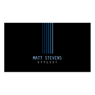 Stylist Business Card Blue Beams
