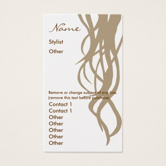 Stylist Business Card two sided- Gold