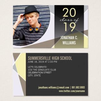 Stylist Criss Cross Graduation Photo Contact Card