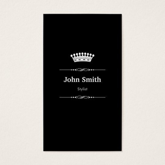 Stylist Elegant Royal Black White Business Card